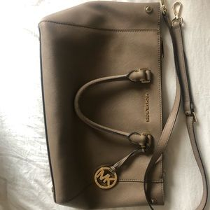 USED Taupe Michael Kors Purse